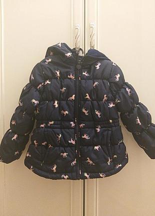 Куртка на дівчинку 86-92 см