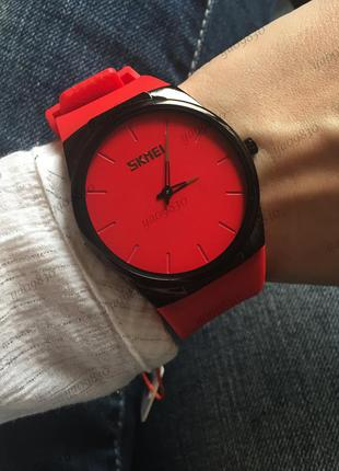 Водонепроницаемые часы skmei красные, оригинал