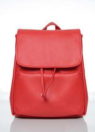 Красный женский рюкзак loft -вместительный рюкзак на каждый день