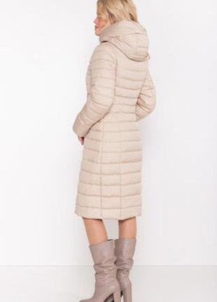 Шикарная теплая зимняя стеганная куртка/пуховик/пальто