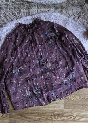 Свободная блуза в цветочный принт (20р)4xl