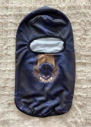 Зверомаска, балаклава, подшлемник медведь