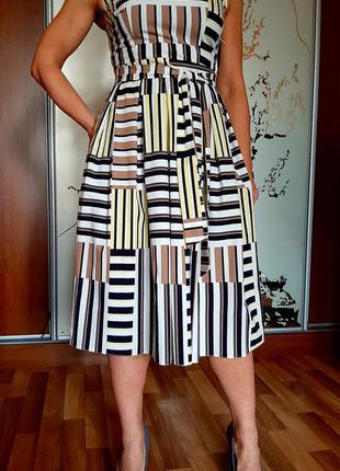Легкое базовое платье миди из натурального хлопка