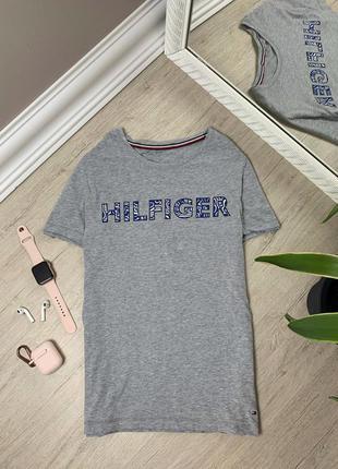 Женская футболка tommy hilfiger томми хайфилгер оригинал серая