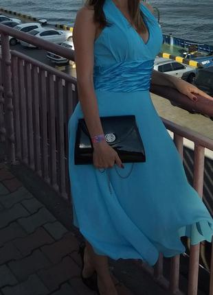 Очень нежное платье небесного цвета
