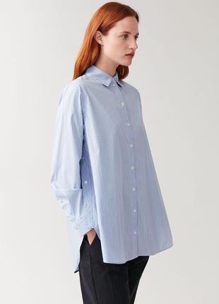 Блуза-рубашка в полоску (38-40-42 размер)