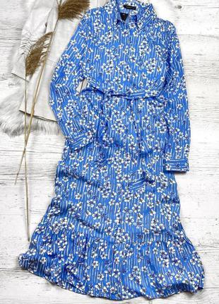 Платье на пуговицах с поясом в комплекте