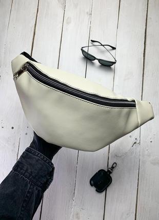 Новая сумка бананка через плечо , на пояс экокожа качественная / багет кроссбоди / клатч (дефект)