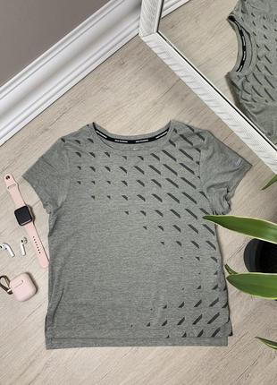Женская футболка nike dri fit найк спортивная тренировочная оригинал серая