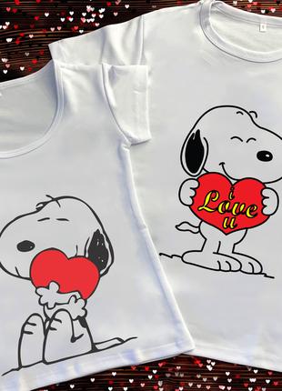 Парні футболки з принтом - кохання