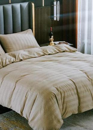 Страйп-сатин. євро розмір. комплект постільної білизни. постельное бельё.