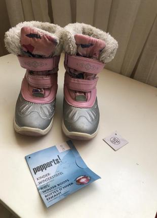 Зимние ботинки сапоги pepperts 31 термоботинки термо