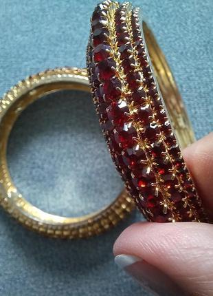 Зажим рубин золото держатель для шарфа платка
