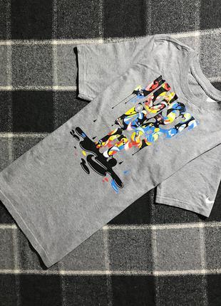 Женская хлопковая футболка с принтом nike ( найк мрр идеал оригинал разноцветная)