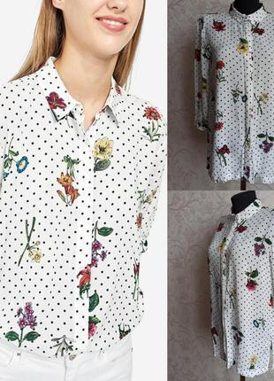 Рубашка в цветочный принт stradivarius