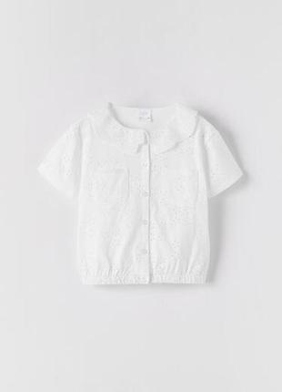 Ажурная блуза 116 см, zara!