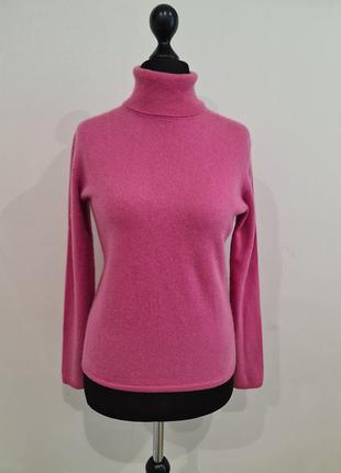 Розовый кашемировый свитер гольф maddison