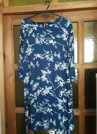 Красивое платье миди натуральная вискоза bonmarche индия
