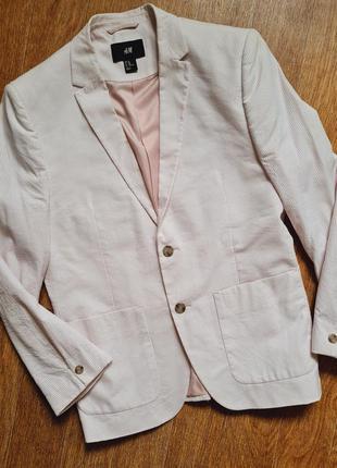 Шикарный розовый модный пиджак h&m с мужского плеча оверсайз