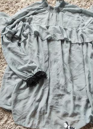 Шифоновая блуза большого размера