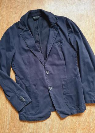 Модный мужской джинсовый пиджак жакет на осень