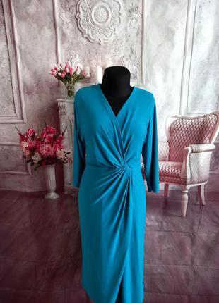 Стильное платье миди масло батал