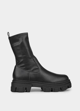 Жіночі оригінальні черевики m wone в чорному кольорі / оригинальные женские ботинки m wone