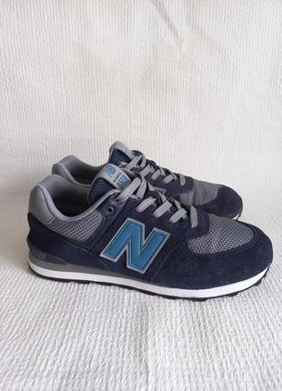 New balance кожаные оригинальные кроссовки 38