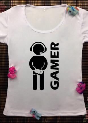 Жіноча футболка с принтом - ігри