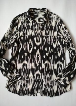 100% лён/шикарная льняная блуза рубашка от maddison