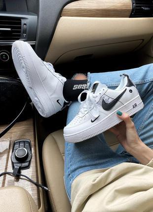 Кросівки air force 1 white/black кроссовки