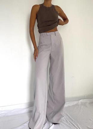 Брюки штаны палаццо широкие wide в стиле zara mango cos