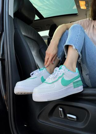Кросівки air force shadow white green кроссовки