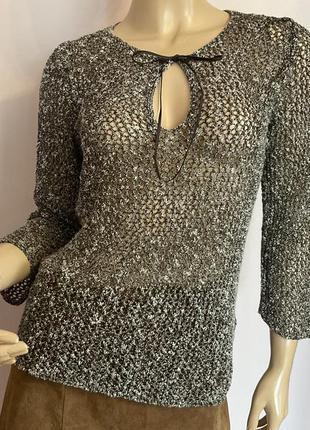Фирменный ажурный итальянский свитерок/m/ brend marella/max mara