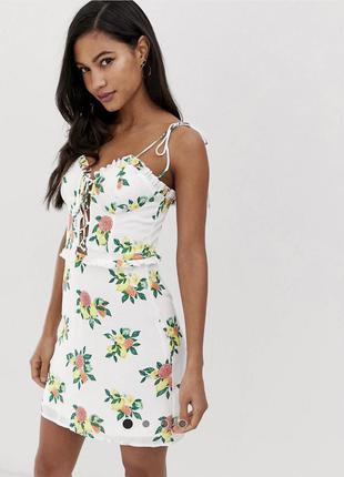 Новое брендовое платье с бирками летнее легкое prettylittlething