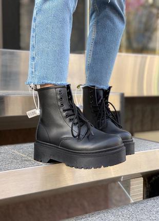 Черевики dr. martens jadon mono black ботинки