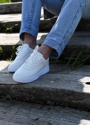 Женские кроссовки, кеды в стиле nike air force white белые наложенный платёж купить 🔥