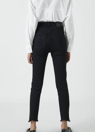 Базовые чёрные джинсы skinny джинсы высокая посадка