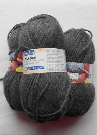Пряжа для вязания с шерстью
