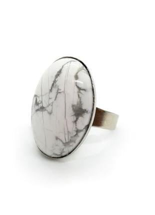 💍⛅️ стильное кольцо овал натуральный камень кахолонг