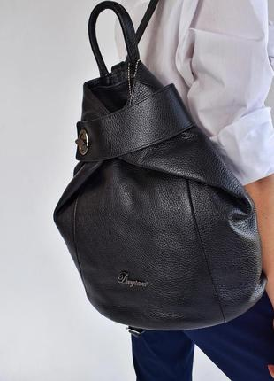 Рюкзак женский кожаный dovgiani черный