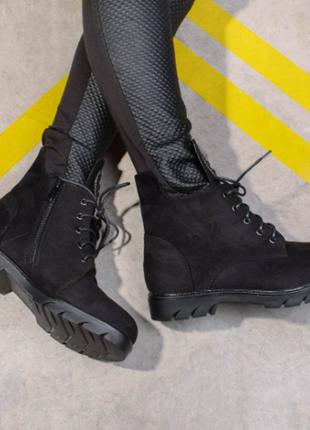 Ботинки женские на шнуровке (321616) / 100673