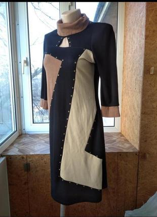 Платье миди классическое натуральное