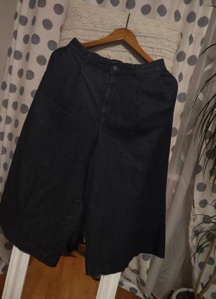 Джинсові кюлоти uniqlo брюки штани джинси джинсы