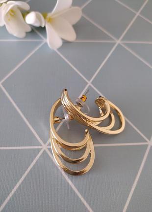 Потрійні сережки, серьги гвоздики с сайта asos