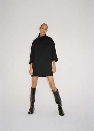 Zara тёплое платье зара платье оттаман зимнее платье зара