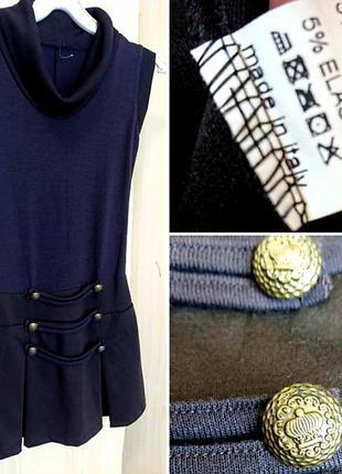 Итальянский вязаный сарафан платье.