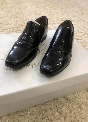 Лаковые туфли черные детские классические туфли 👞 для мальчика