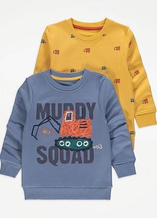 Свитшот george на мальчика 2-3-4-5 лет 92-98-104-110 см джордж кофта свитер