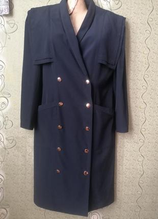 Винтажный пиджак плащ в составе шерсть.